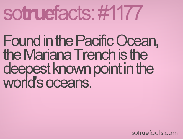 Found in the Pacific Ocean, the Mariana Trench is the deepest known point in the world's oceans.
