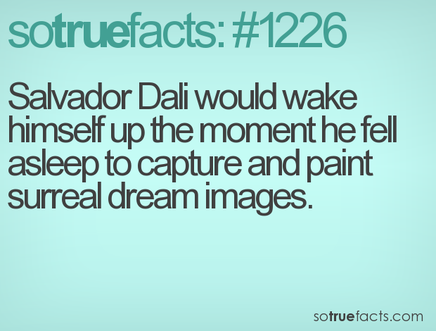 Salvador Dali would wake himself up the moment he fell asleep to capture and paint surreal dream images.