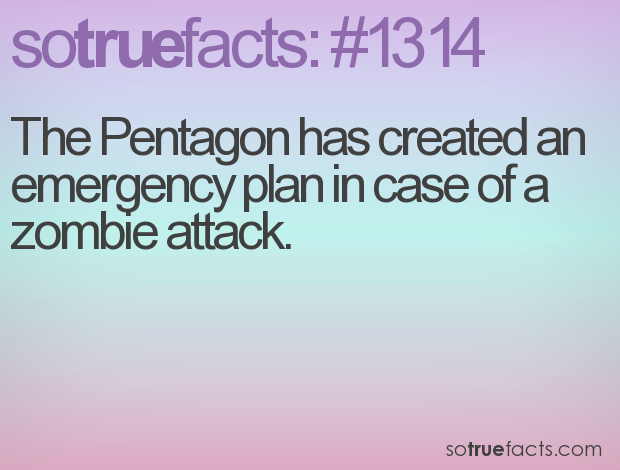 The Pentagon has created an emergency plan in case of a zombie attack.