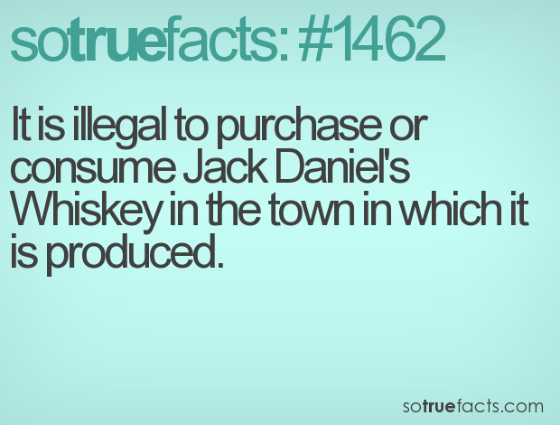 It is illegal to purchase or consume Jack Daniel's Whiskey in the town in which it is produced.