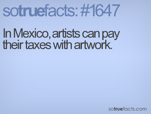 In Mexico, artists can pay their taxes with artwork.