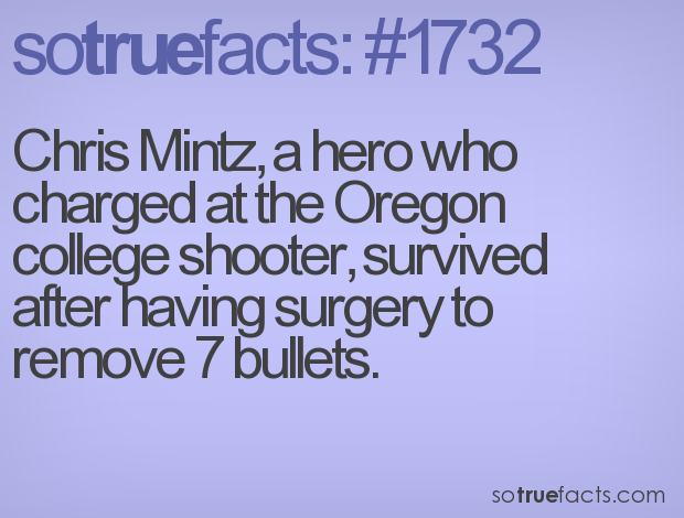 Chris Mintz, a hero who charged at the Oregon college shooter, survived after having surgery to remove 7 bullets.