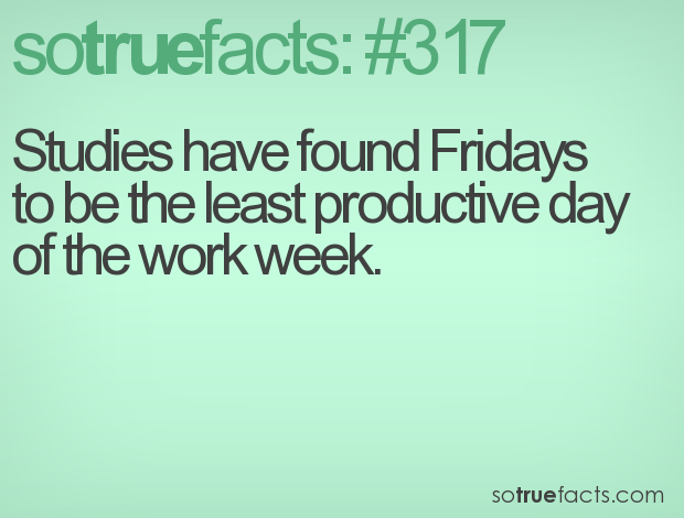 studies have found fridays to be the least productive day