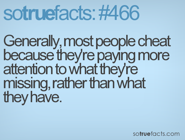 people who cheat