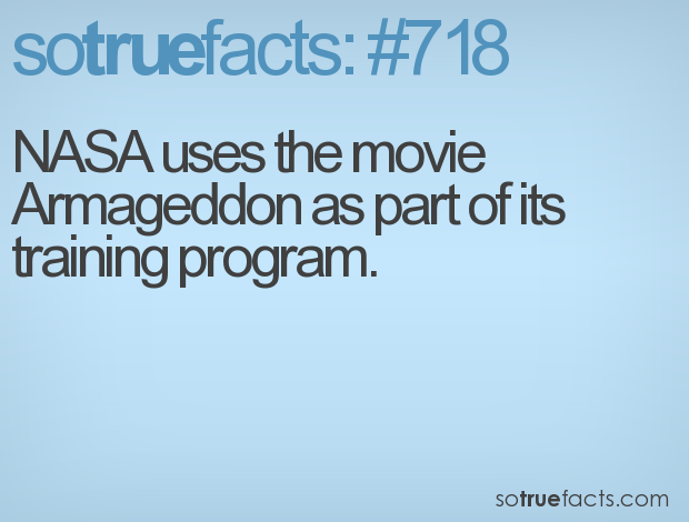 NASA uses the movie Armageddon as part of its training ...