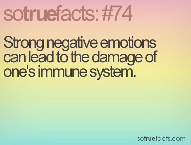 strong negative emotions can lead to the damage of ones