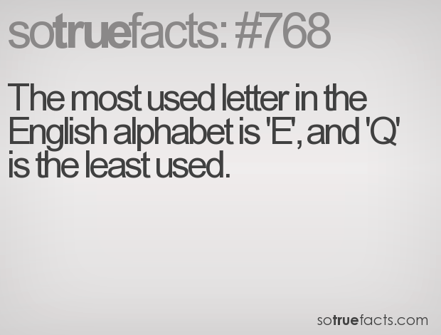 what is the most used letter the most used letter in the alphabet is e and 25565