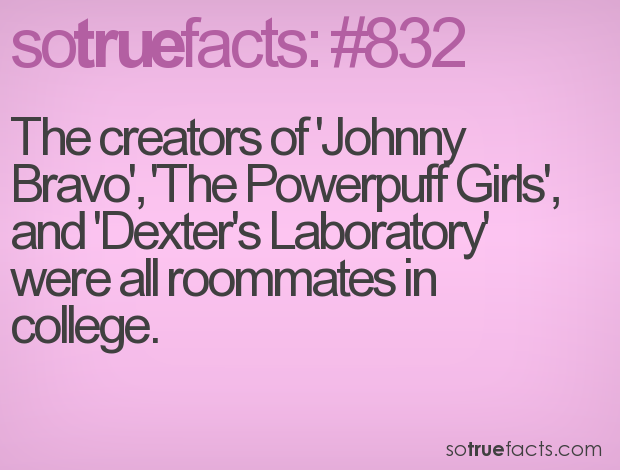 The creators of 'Johnny Bravo', 'The Powerpuff Girls', and 'Dexter's Laboratory' were all roommates in college.
