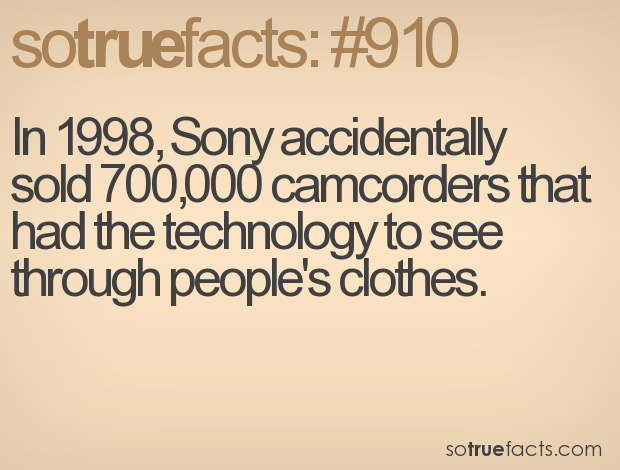 In 1998 ,Sony Accidentally Sold 700,000 Camcorders That